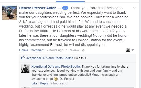 DJ Forrest review testimonial