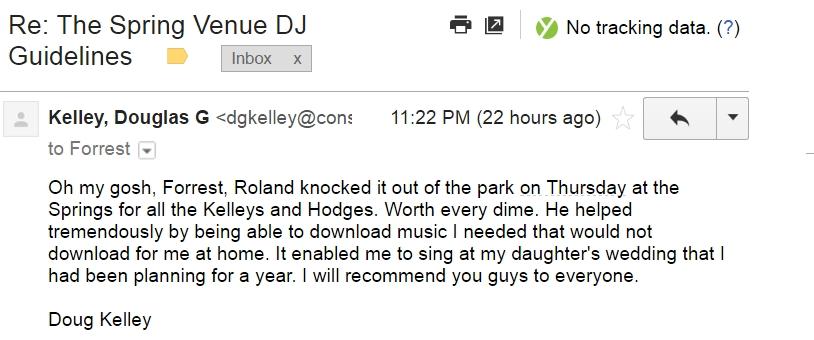 DJ Testimonial