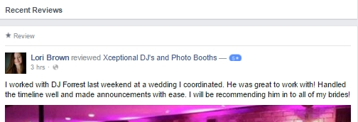 Review of DJ Forrest from Lori with Blue Sage Events